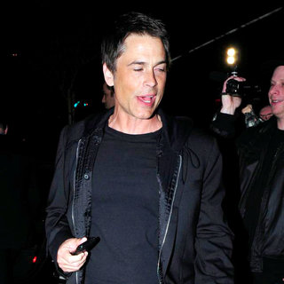 Rob Lowe in Rob Lowe Leaving BOA Steakhouse Restaurant