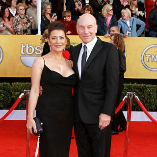 Marina Sirtis, Patrick Stewart in The 17th Annual Screen Actors Guild Awards (SAG Awards 2011) - Arrivals