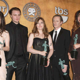Aleksa Palladino, Michael Pitt, Kelly MacDonald, Steve Buscemi, Paz de la Huerta in The 17th Annual Screen Actors Guild Awards (SAG Awards 2011) - Press Room