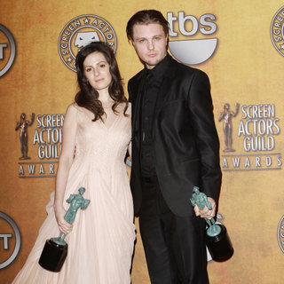 Aleksa Palladino, Michael Pitt in The 17th Annual Screen Actors Guild Awards (SAG Awards 2011) - Press Room
