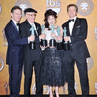 Anthony Andrews, Geoffrey Rush, Helena Bonham Carter, Colin Firth in The 17th Annual Screen Actors Guild Awards (SAG Awards 2011) - Press Room