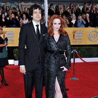 Geoffrey Arend, Christina Hendricks in The 17th Annual Screen Actors Guild Awards (SAG Awards 2011) - Arrivals