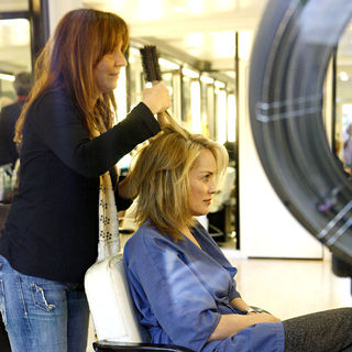 Sharon Stone in Sharon Stone Has Her Hair Styled at The Hair Dresser in Beverly Hills