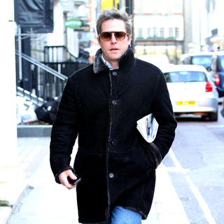 Hugh Grant Spotted at The 'Eat' Cafe in Dover Street Before Heading Back to His Ferrari Parked