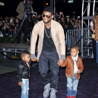 "Usher in Los Angeles Premiere of ""Justin Bieber: Never Say Never"""