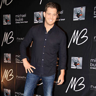 Michael Buble in Michael Buble at A Press Conference Promoting His 'Crazy Love' Australian Tour