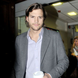 Ashton Kutcher in Ashton Kutcher Leaving The BBC Radio One Studios