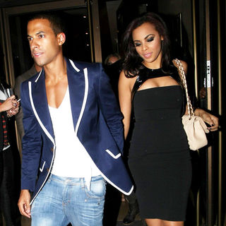 Marvin Humes, Rochelle Wiseman in Celebrities Attend The Birthday Party of JLS' Aston Merrygold