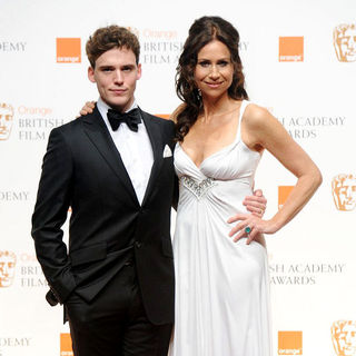 Sam Claflin, Minnie Driver in 2011 Orange British Academy Film Awards (BAFTAs) - Press Room