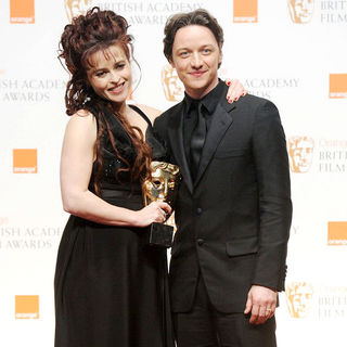 Helena Bonham Carter, James McAvoy in 2011 Orange British Academy Film Awards (BAFTAs) - Press Room