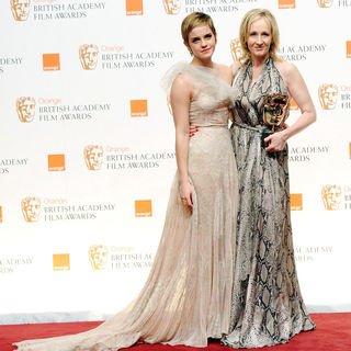 Emma Watson, J.K. Rowling in 2011 Orange British Academy Film Awards (BAFTAs) - Press Room