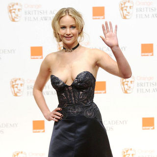Jennifer Lawrence in 2011 Orange British Academy Film Awards (BAFTAs) - Press Room