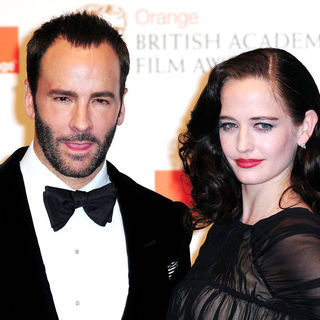 Tom Ford, Eva Green in 2011 Orange British Academy Film Awards (BAFTAs) - Press Room