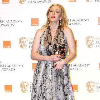 J.K. Rowling in 2011 Orange British Academy Film Awards (BAFTAs) - Press Room