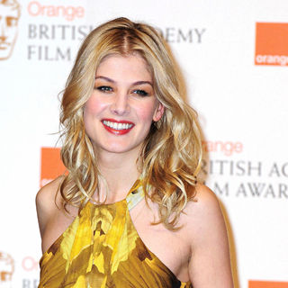 Rosamund Pike in 2011 Orange British Academy Film Awards (BAFTAs) - Press Room
