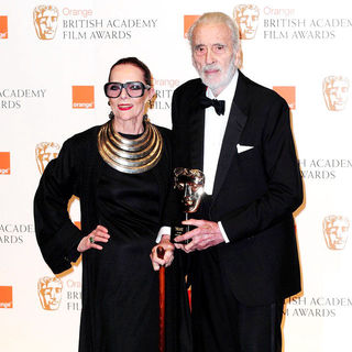 Gitte Lee, Christopher Lee in 2011 Orange British Academy Film Awards (BAFTAs) - Press Room