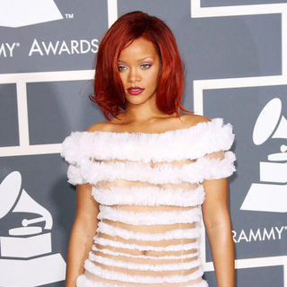 Rihanna in The 53rd Annual GRAMMY Awards - Red Carpet Arrivals