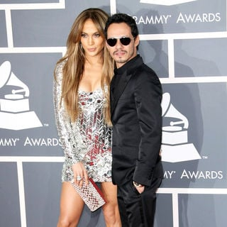 Jennifer Lopez, Marc Anthony in The 53rd Annual GRAMMY Awards - Red Carpet Arrivals