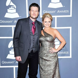 Blake Shelton, Miranda Lambert in The 53rd Annual GRAMMY Awards - Red Carpet Arrivals