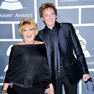 Lorna Luft, Barry Manilow in The 53rd Annual GRAMMY Awards - Red Carpet Arrivals