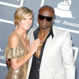 Heidi Klum, Seal in The 53rd Annual GRAMMY Awards - Red Carpet Arrivals
