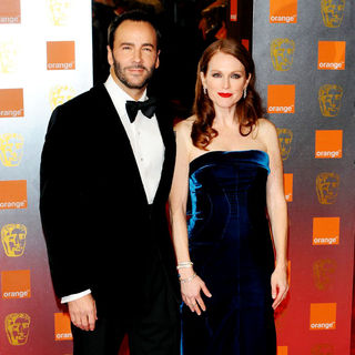 Tom Ford, Julianne Moore in 2011 Orange British Academy Film Awards (BAFTAs) - Arrivals