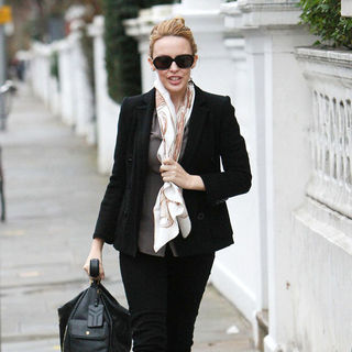 Kylie Minogue Spotted Near Her Home in North London