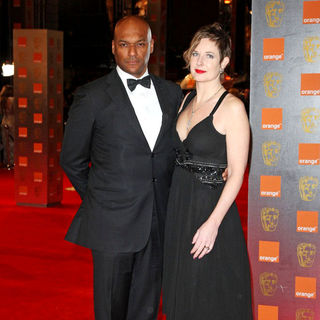 Colin Salmon, Fiona Hawthorne in 2011 Orange British Academy Film Awards (BAFTAs) - Arrivals