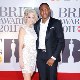 Kimberly Wyatt, Taio Cruz in The BRIT Awards 2011 - Arrivals