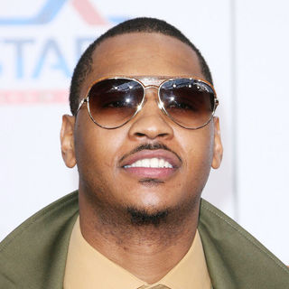 Carmelo Anthony in T-Mobile Magenta Carpet at The 2011 NBA All-Star Game