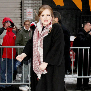 Adele in 'The Late Show with David Letterman' at The Ed Sullivan Theater - Departures