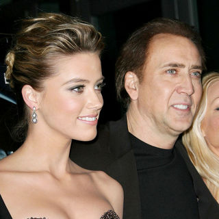 "Amber Heard, Nicolas Cage in Los Angeles Screening of ""Drive Angry"""