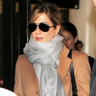 Jennifer Aniston in Jennifer Aniston Arrives on A Flight Into LAX and Is Escorted Out by Security