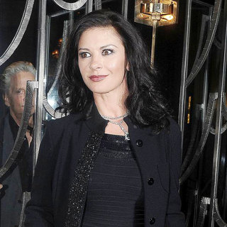 Catherine Zeta-Jones in Celebrities Outside Claridge's Hotel