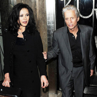 Catherine Zeta-Jones, Michael Douglas in Catherine Zeta-Jones and Michael Douglas Outside Claridge's Hotel