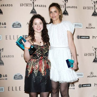 Sarah Steele, Amanda Peet in The 2011 Film Independent Spirit Awards - Press Room