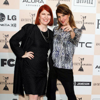 Kate Flannery, Nia Vardalos in The 2011 Film Independent Spirit Awards - Arrivals