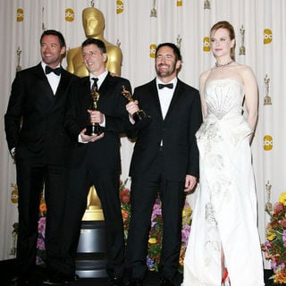 Hugh Jackman, Atticus Ross, Trent Reznor, Nicole Kidman in 83rd Annual Academy Awards (Oscars) - Press Room