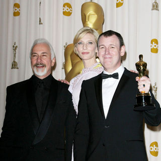 Rick Baker, Cate Blanchett, Dave Elsey in 83rd Annual Academy Awards (Oscars) - Press Room