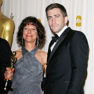 Karen Goodman, Jake Gyllenhaal in 83rd Annual Academy Awards (Oscars) - Press Room
