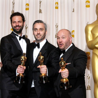 Emile Sherman, Iain Canning, Gareth Unwin in 83rd Annual Academy Awards (Oscars) - Press Room