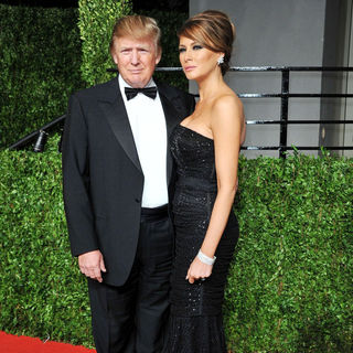 Donald Trump, Melania Trump in 2011 Vanity Fair Oscar Party - Arrivals