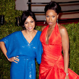 Rosario Dawson, Jennifer Hudson in 2011 Vanity Fair Oscar Party - Arrivals