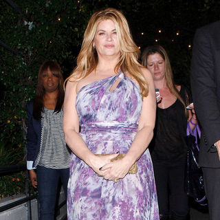 Kirstie Alley in Kirstie Alley Outside STK Restaurant in West Hollywood