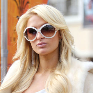 Paris Hilton in Paris Hilton at The Grove in Hollywood for An Interview for Entertainment Television 'Extra'
