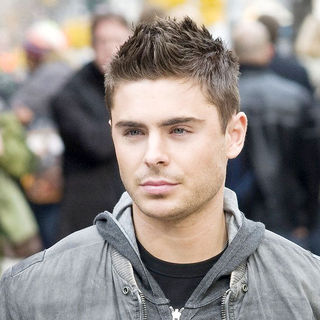 Zac Efron in On The Set of 'New Year's Eve'