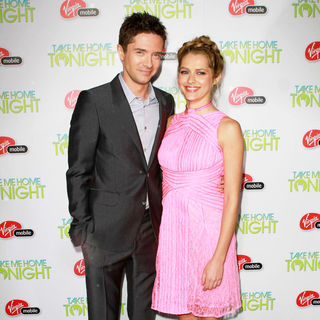 "Topher Grace, Teresa Palmer in Relativity Media Presents The Premiere of ""Take Me Home Tonight"""