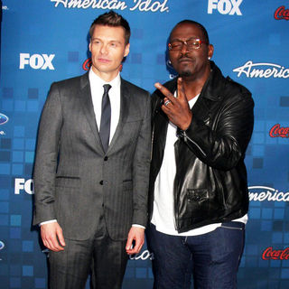 Ryan Seacrest, Randy Jackson in The American Idol Season 10 Top 13 Finalists Party