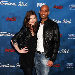Devon Kelly, Todd Williams in The American Idol Season 10 Top 13 Finalists Party