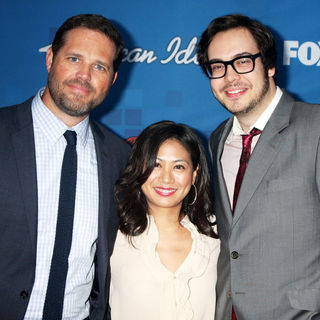 David Denman, Liza Lapira, Nelson Franklin in The American Idol Season 10 Top 13 Finalists Party